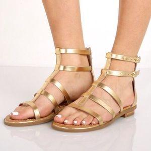 Seychelles Leather Peachy Gladiator Sandals